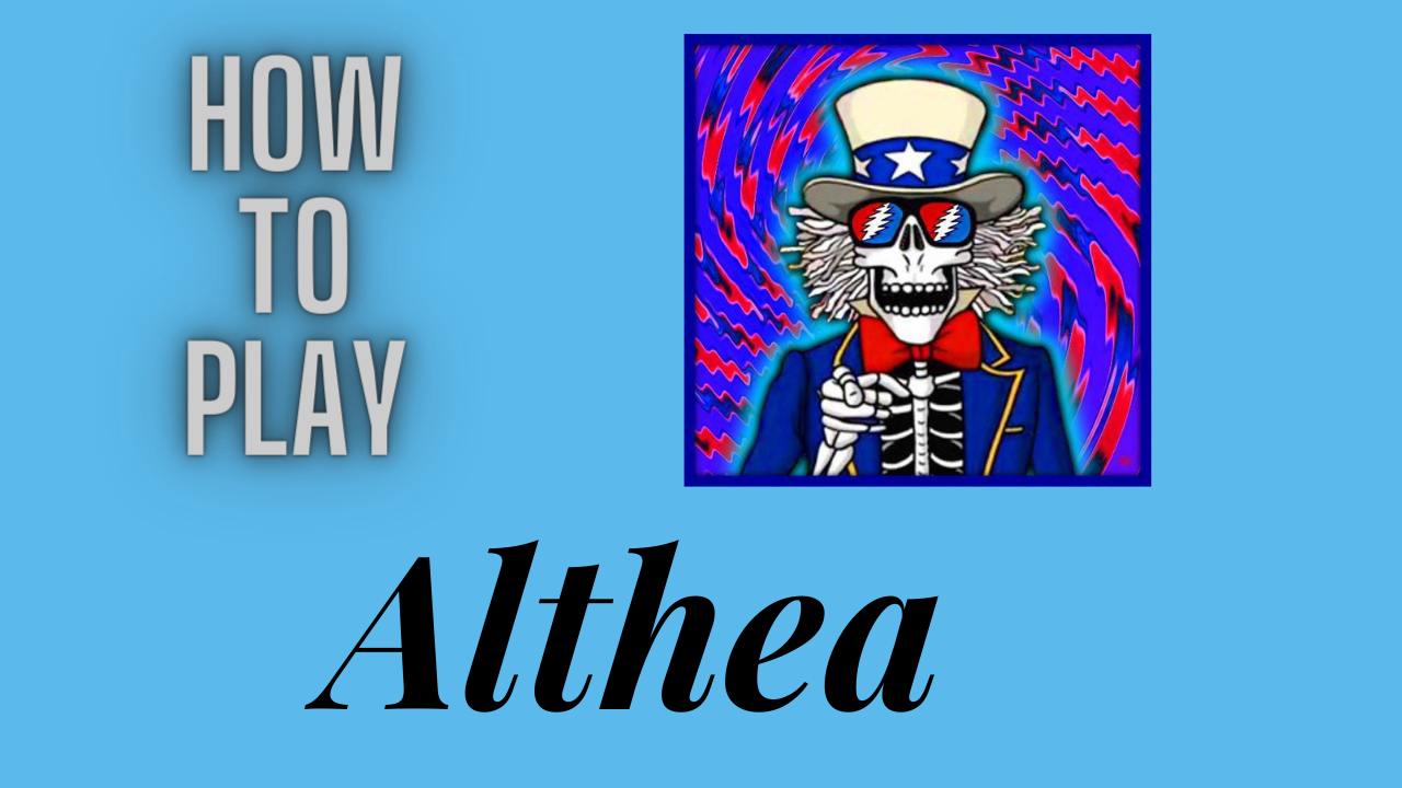 """How to Play - """"Althea"""" - all chords + """"claw"""" technique explained -Grateful Dead- Alpine Valley 1989"""