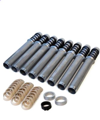 BLACK Pro-Series Adjustable Push Rod Tubes - set of 8