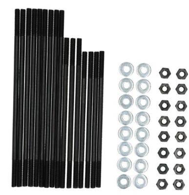 "Cylinder stud kit 8mm std +1/2"" length Chromoley"