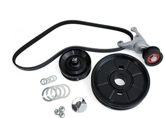 Serpentine Belt System with O.E. Style Pulley - Anodized Black