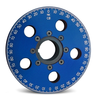 6'' Santana Style Billet Crankshaft Pulley with Steel Reverse Groove Hub (blue)