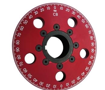 "5 1/4"" Drag Race Crankshaft Pulley - No Belt Groove (red)"