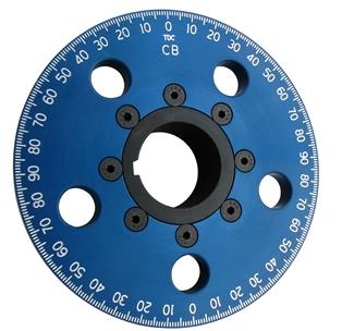 "5 1/4"" Drag Race Crankshaft Pulley - No Belt Groove (blue"