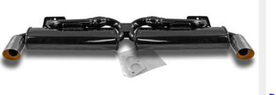 Double exhaust Quiet pack, with 2 oval mufflers