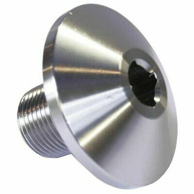 Crankshaft Pulley Bolt Silver Zinc Plated Steel Broached