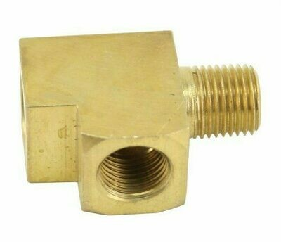 """Brass T Fitting/Adapter (1/8""""), For Gauges, Each"""