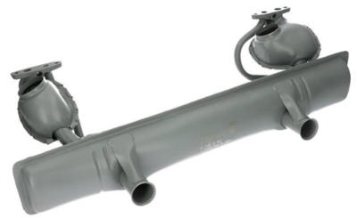 Exhaust with double preheating (with T�v)