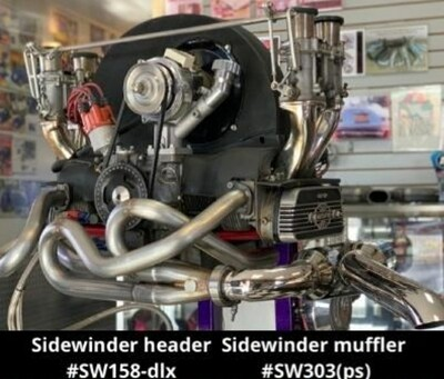 Genuine A-1 Sidewinder exhaust Flanged Early Bay