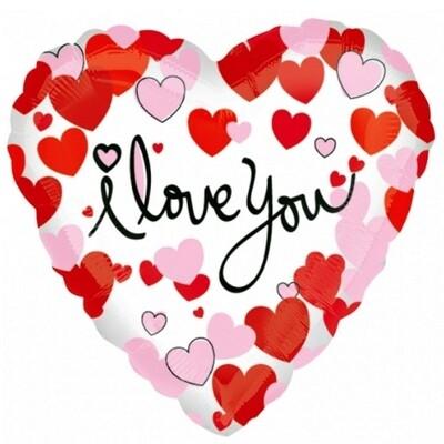 Foil Balloon Heart I LOVE YOU