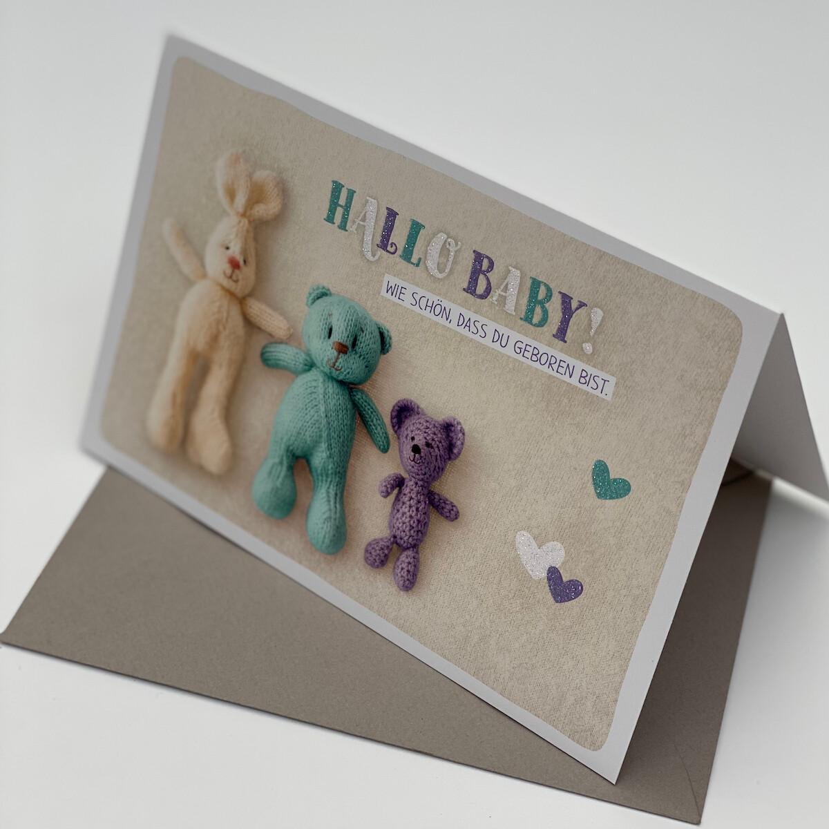 Greeting Card - Hallo Baby