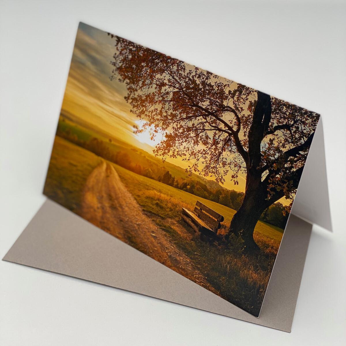 Greeting Card - Landscape Sunset
