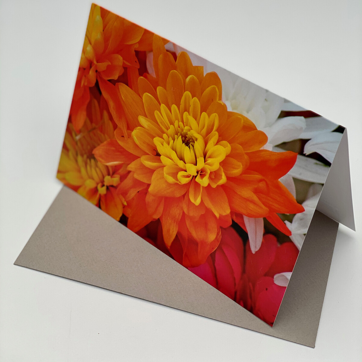 Greeting Card - Red Flower