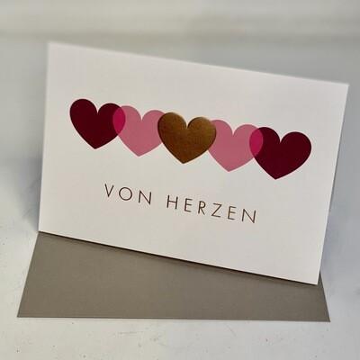 Greeting Card - Von Herzen