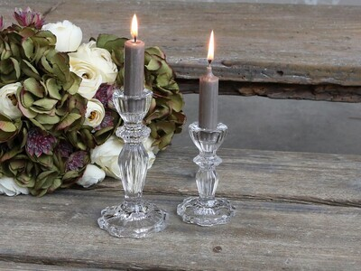 Clear Glass Candle Holders Tall