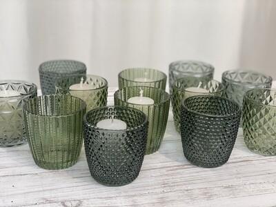 Votive Glass Grün