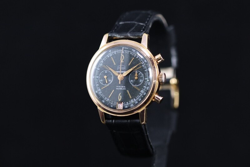 Chronographe Suisse Philippe Gold Plated. Date 6h