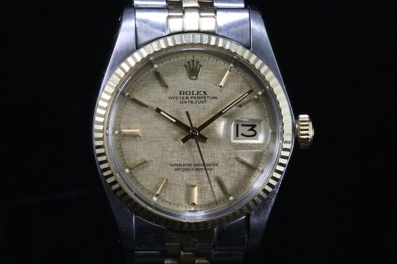 Rolex Datejust 1601 Two-Tone Linen Dial