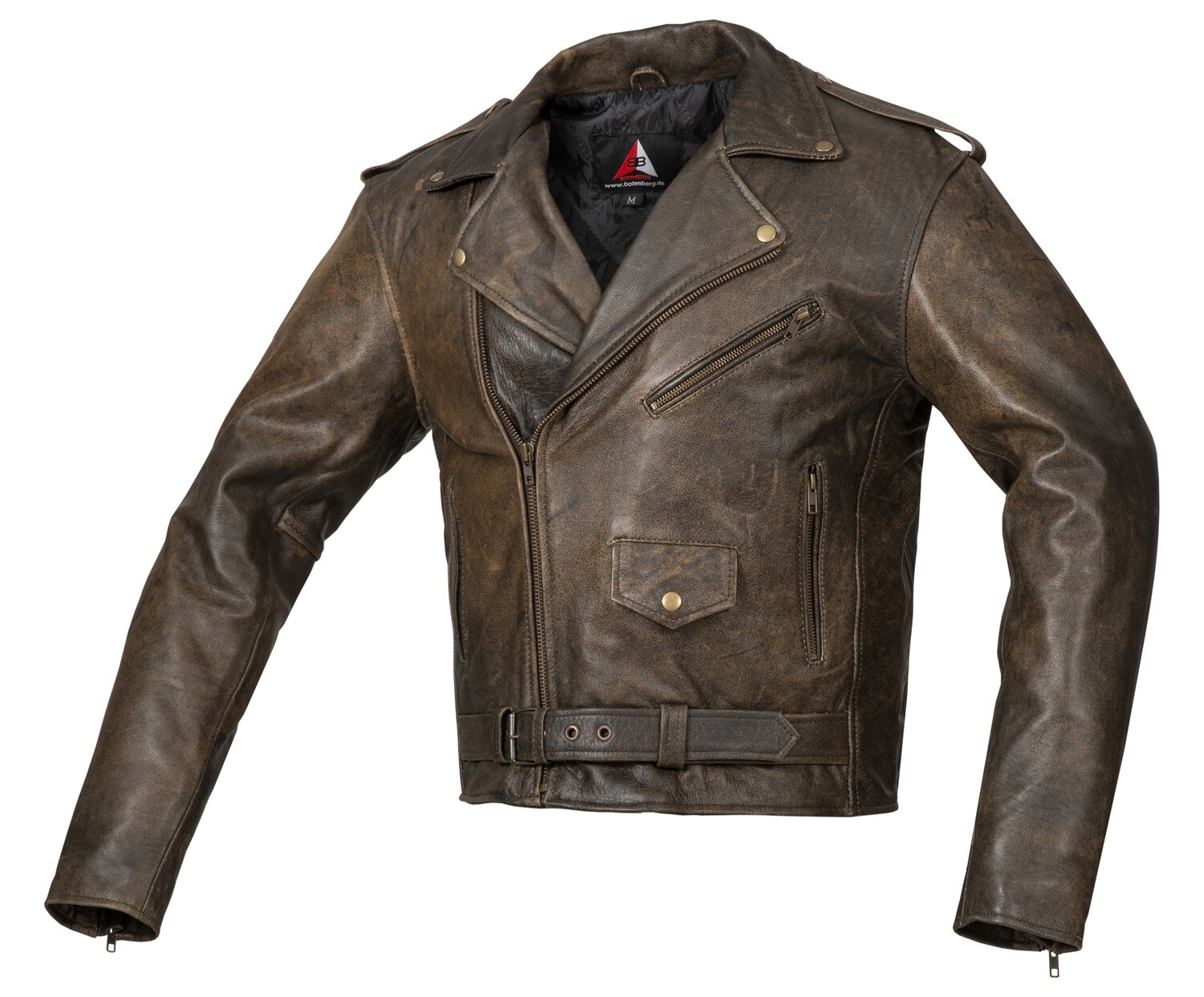 """""""The Antik Classic"""" Bohmberg Biker Jacket made of Pull-up Leather"""