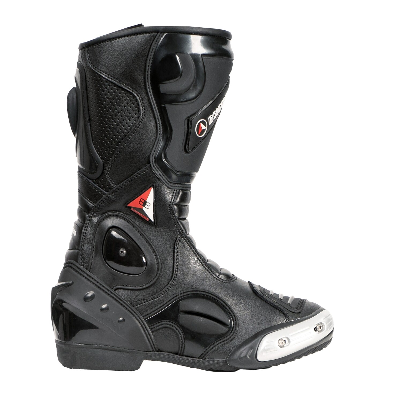 Bohmberg® SPARTAX-3 Motorradstiefel mit aufgesetzten Hartschalenprotektoren