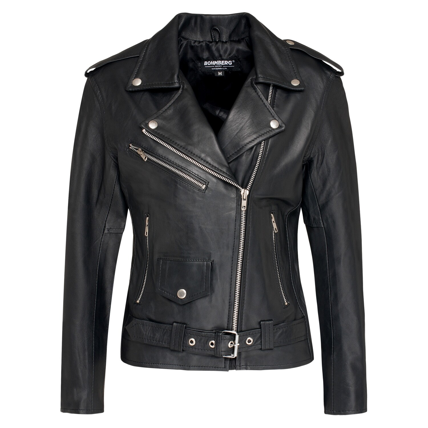 Bohmberg Women's Leather Jacket CALYPSO made of soft Goat Nappa Leather in Premium Quality