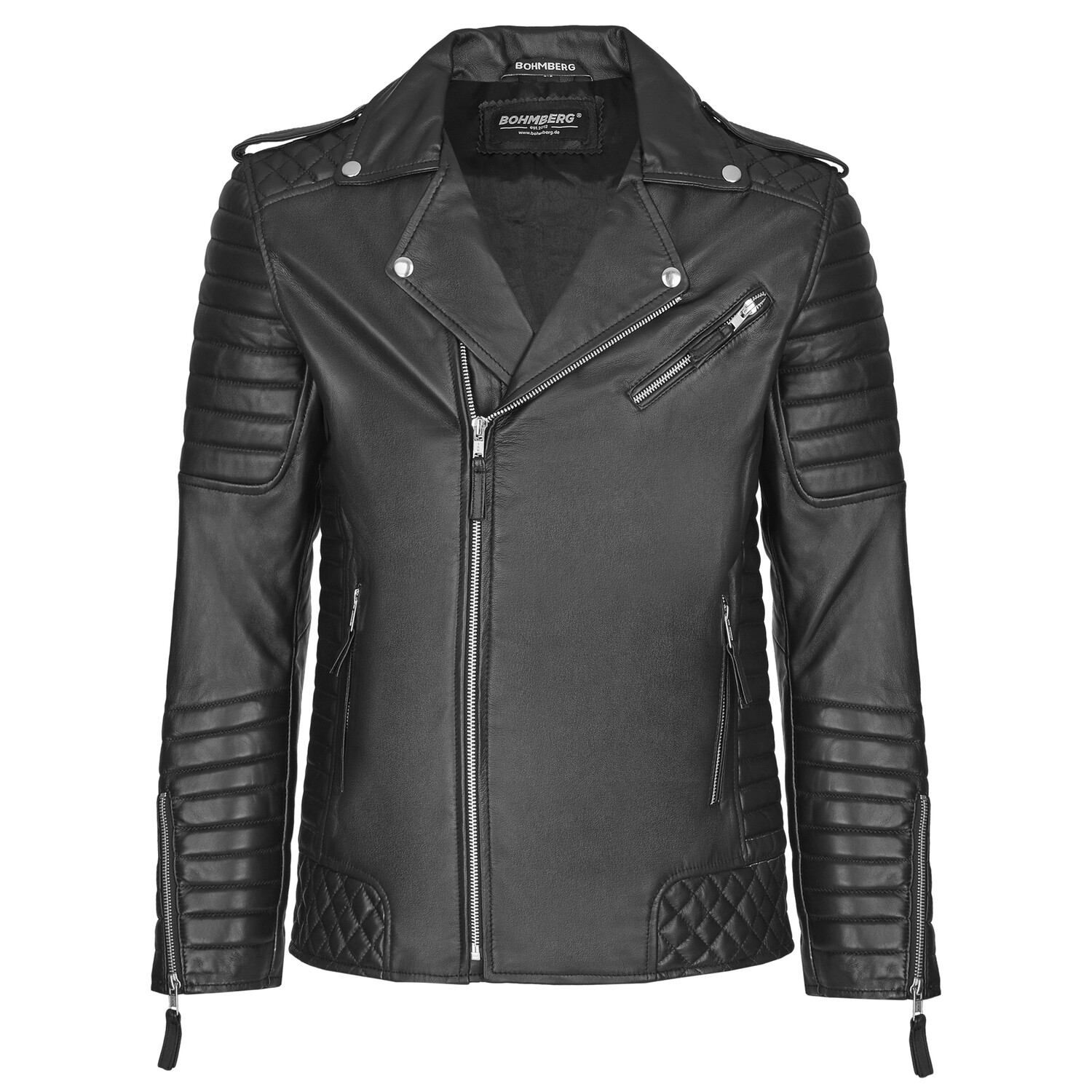 Bohmberg men's leather jacket VIRTUS made of soft goat nappa leather in premium quality