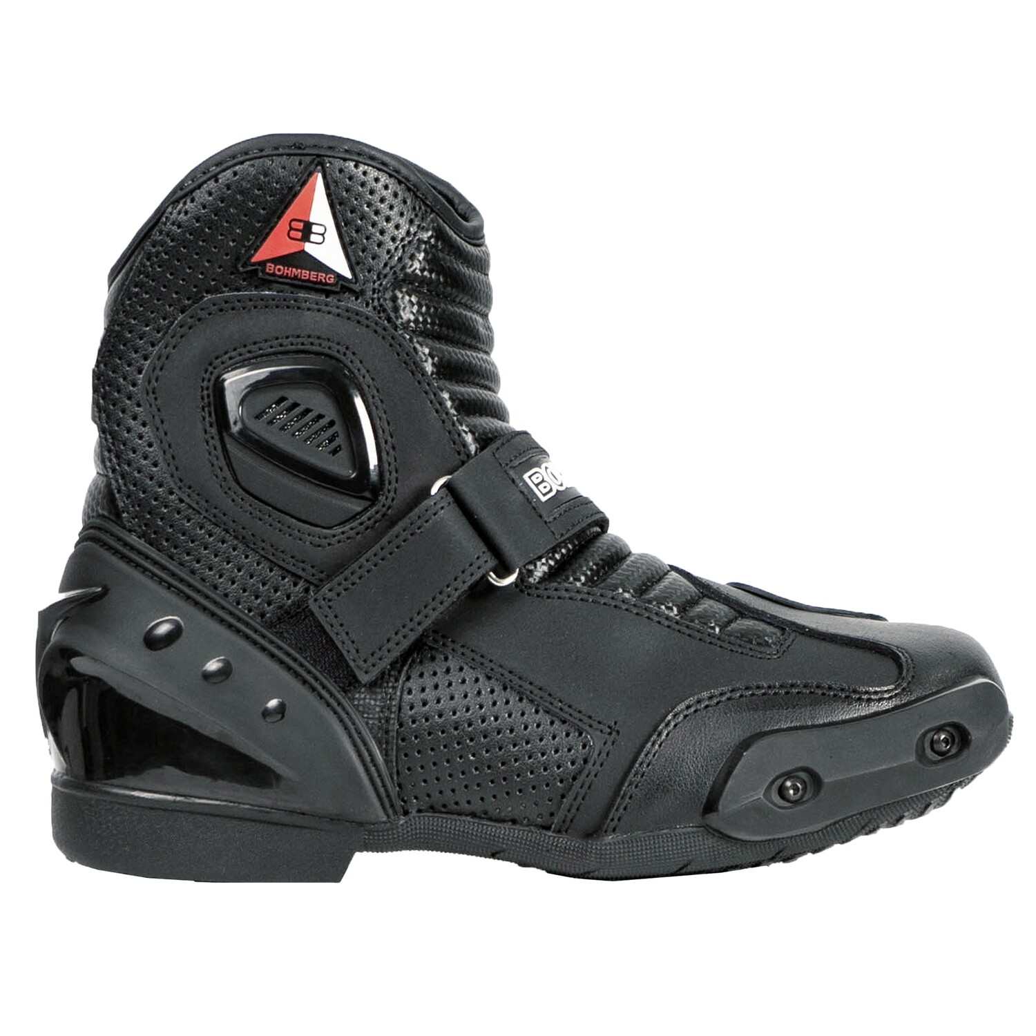 Bohmberg® AUDAX Motorcycle Boots made of sturdy Leather with attached Hard Shell Protectors