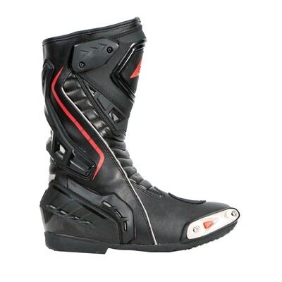 Bohmberg® PRETORIAN Motorcycle Boots made of sturdy Leather with attached Hard Shell Protectors