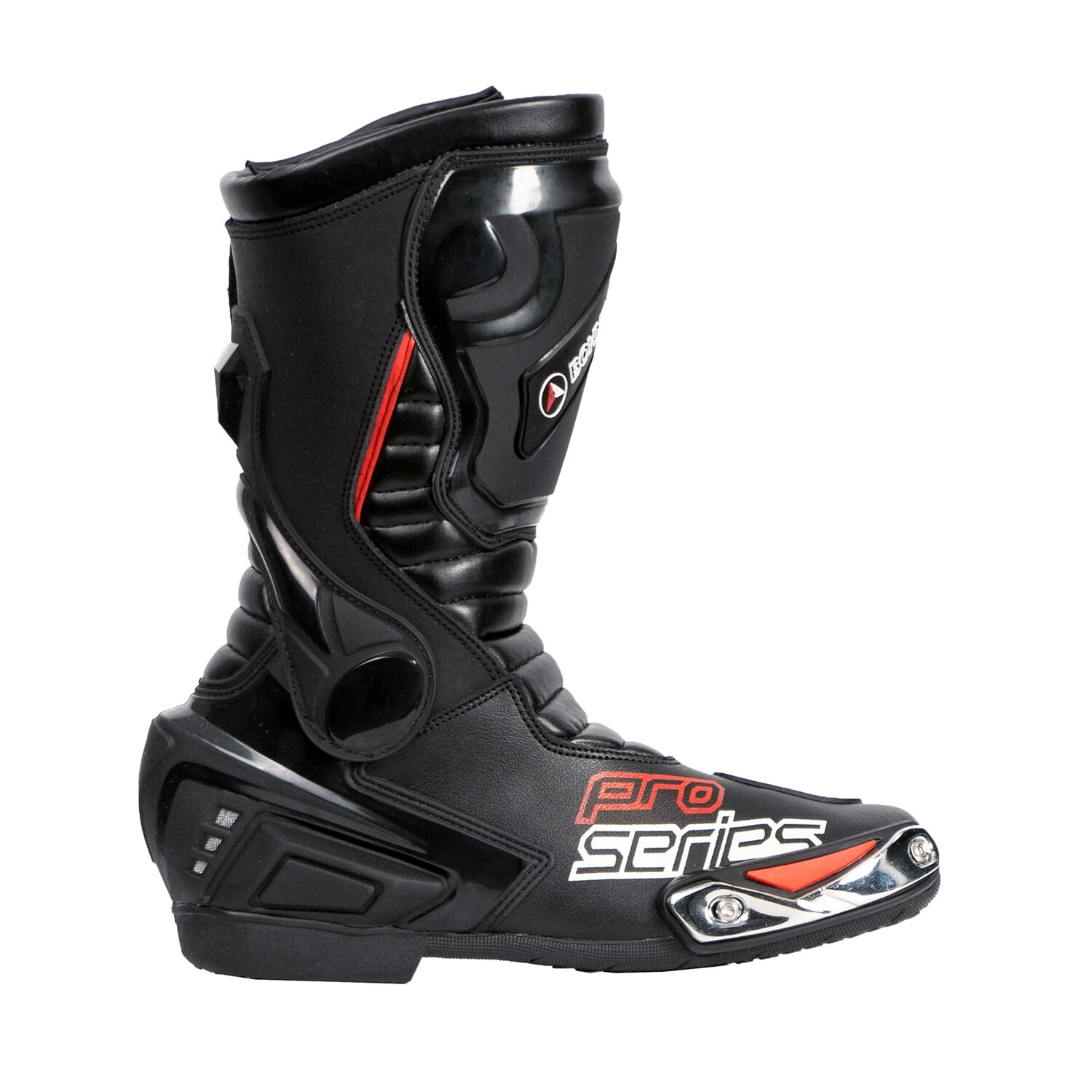 Bohmberg® PRO-series Motorcycle Boots made of sturdy Leather with attached Hard Shell Protectors