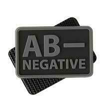 MSM BLOODTYPE AB NEGATIVE PATCH