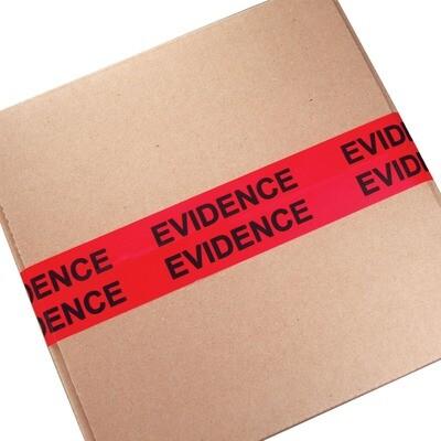 RED/BLACK SEALED EVIDENCE TAPE