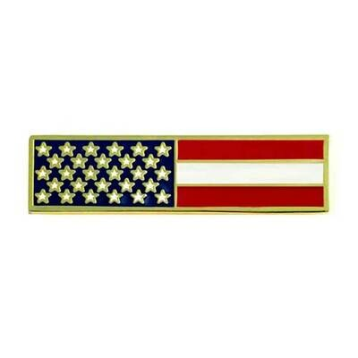 AMERICAN FLAG  RECTANGLE GOLD