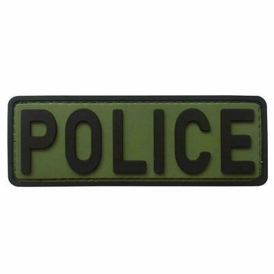 2X4 PATCH BLACK OD POLICE