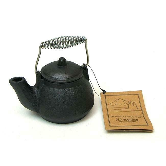1.5 Cup Cast Iron Mini Tea Kettle - Old Mountain