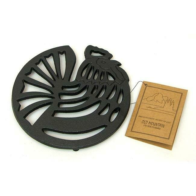 Cast Iron Rooster Trivet - Old Mountain
