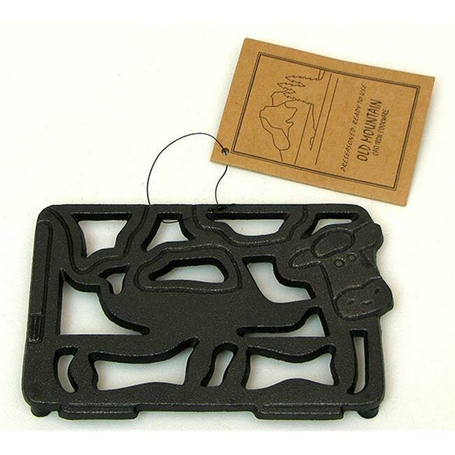 Cast Iron Cow Trivet - Old Mountain