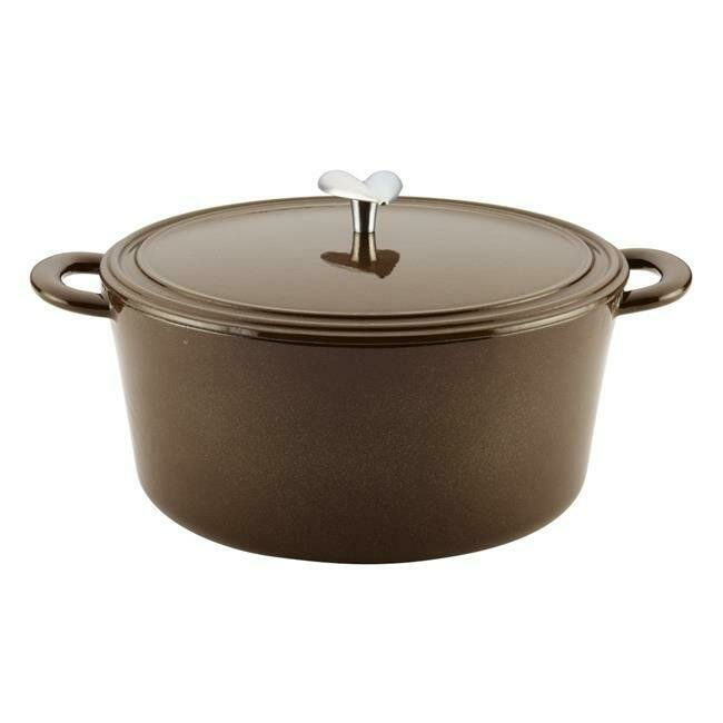 6 Quart Cast Iron Enamel Covered Dutch Oven, Brown Sugar​ - Ayesha Curry