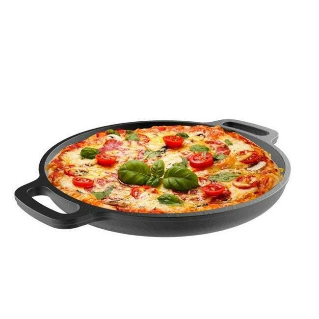 13.25 Inch Cast Iron Pizza Pan - Classic Cuisine