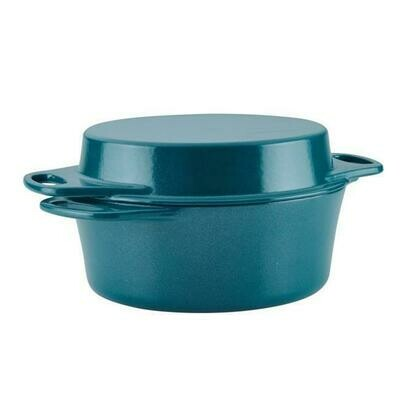 4 quart Cast Iron Double Duty Casserole with 10 in. Griddle Lid - Rachael Ray