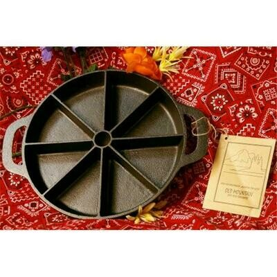 Cast Iron  Pre-Sliced Cornbread Pan -Old Mountain