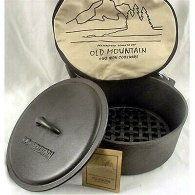 5 Quart Cast Iron Dutch Oven- Old Mountain