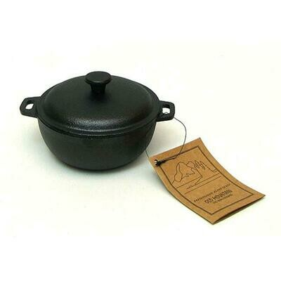 2 Cup Cast Iron Mini Dutch Oven - Old Mountain
