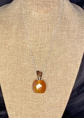 Carnelaine Crystal Vial Necklace