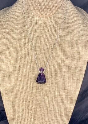 Amethyst Crystal Vial Necklace