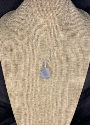 Botswana Agate Crystal Vial Necklace