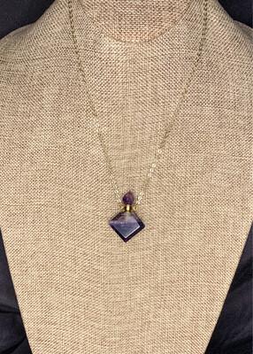 Rainbow Fluorite Vial Necklace