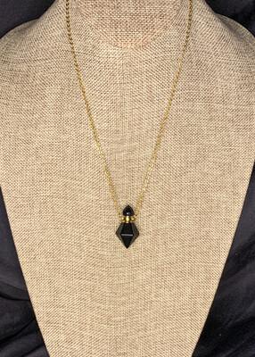 Obsidian Crystal Vial
