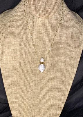 Howlite Crystal Vial