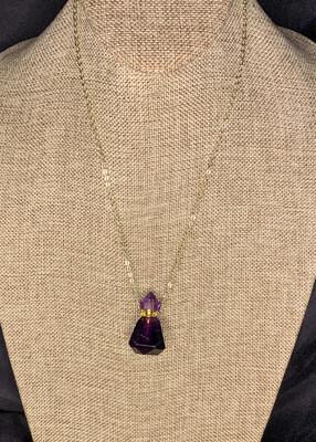 Amethyst Vial Necklace