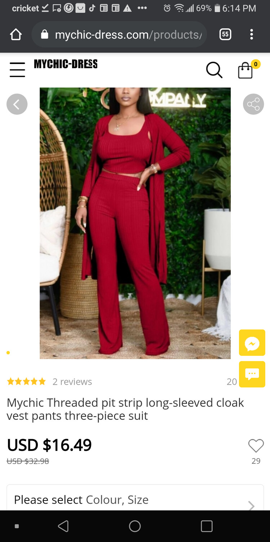 3 piece long sleeve pants set