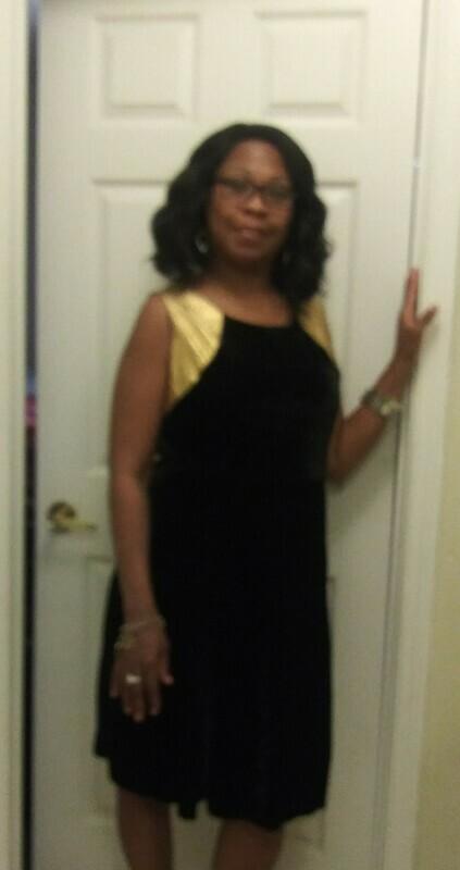 Black&gold dress